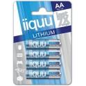 iiquu Lithium elem AA ceruza 4db/csomag
